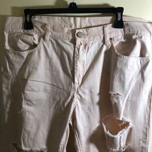 Blank NYC Jeans - BLANK NYC Light Pink Ditz Ripped Jeans